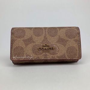 Coach 6-Ring Key Case in Signature Canvas